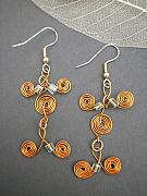 Handcrafted Jewelry - Curly Q 2 by Angie DElia