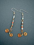 Earrings Jewelry - Curly Q Copper by Angie DElia
