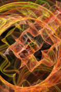 Fractal Geometry Digital Art Originals - Curly Qs Hot by William Wright