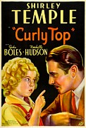1935 Movies Prints - Curly Top, Shirley Temple, John Boles Print by Everett