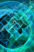 Fractal Geometry Digital Art Originals - CurlyQs Cool by William Wright