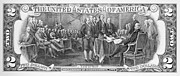 Declaration Of Independence Photo Posters - Currency: Two Dollar Bill Poster by Granger