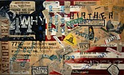 Racism Mixed Media Prints - Current Events Print by A Diaz