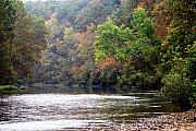 Lanscape Metal Prints - Current river Fall Metal Print by Marty Koch
