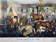 Trotting Prints - Currier & Ives: Trotting Cracks Print by Granger