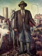 Curry Prints - CURRY: THE RANCHER, 1930s Print by Granger