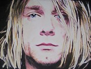 Curt Prints - Curt Cobain Print by Mandy Thomas