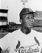 Athlete Photo Framed Prints - Curt Flood (1938- ) Framed Print by Granger