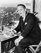 Press Box Posters - Curt Gowdy, Sportscaster And Voice Poster by Everett