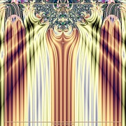 Award Digital Art Posters - Curtain Call Spotlights Fractal 133 Poster by Rose Santuci-Sofranko