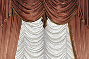 Drapery Photo Prints - Curtain Print by Matthias Hauser