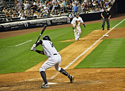 Bronx Bombers Framed Prints - Curtis Granderson Framed Print by Andrew  Cragin