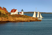New England Lighthouse Framed Prints - Curtis Island Light  Framed Print by Brian Jannsen