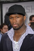 Baseball Cap Prints - Curtis Jackson At Arrivals For Real Print by Everett