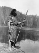 Harpoon Prints - CURTIS: NOOTKA MAN, c1910 Print by Granger