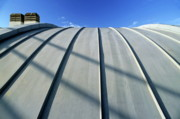Rooftop Framed Prints - Curved zinc roof Framed Print by Sami Sarkis