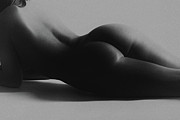 Fine Art Nude Posters - Curves Poster by David  Naman
