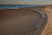 Beach Photograph Prints - Curving To The Sea II Print by Steven Ainsworth