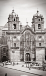 Spanish Prints - Cusco Cathedral Print by Darcy Michaelchuk