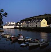 Docked Boat Posters - Cushendun Harbour, Co Antrim, Ireland Poster by The Irish Image Collection