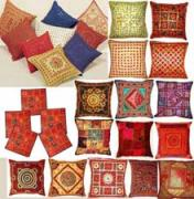 Cushion Tapestries - Textiles Originals - Cushion Cover by Dinesh Rathi