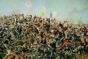 Gallery Painting Prints - Custers Last Stand Print by Edgar Samuel Paxson