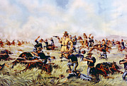 Custer Prints - Custers Last Stand, General George Print by Everett