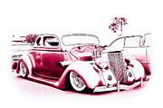 1935 Ford Coupe Posters - Custom 36 Ford Coupe Poster by Steve McKinzie