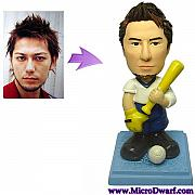 Clay Sculptures - Custom Baseball Figurine From Your Photo by MicroDwarf