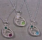 Child Jewelry - Custom Birthstone Mother and Child Pendant by Heather Jordan
