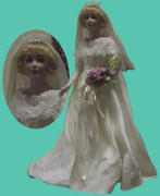 Fashion Ceramics - Custom Bride Doll by Shirley Heyn