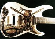 Electric Pyrography - Custom ESP Guitar by Dino Muradian
