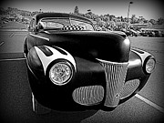 Monochrome Hot Rod Prints - Custom Ford Print by Richard Reeve