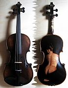 Violin Art - Custom Gliga Violin 2 by Dino Muradian