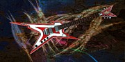 "\""electric Guitar\\\"" Digital Art Framed Prints - Custom Guitar  Framed Print by Louis Ferreira"