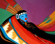 Marlene Burns Paintings - Custom Kachina by Marlene Burns