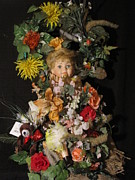 Etc. Mixed Media - Custom Made Porcilin Doll Wall Arrangement 5 by HollyWood Creation By linda zanini