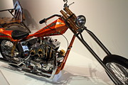 American Motorcycles Posters - Custom Motorcycle Chopper . 7D13319 Poster by Wingsdomain Art and Photography