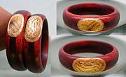 Wood Jewelry - Custom prune inlay by Keith Krautle