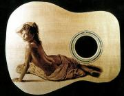 Acoustic Guitar Pyrography - Custom Tacoma Guitar - top by Dino Muradian