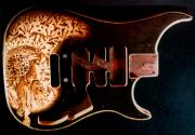Romanian Pyrography Originals - Custom VIGIER Guitar by Dino Muradian