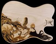 Legend Pyrography - Custom WARMOTH Telecaster Guitar by Dino Muradian