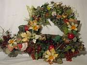 Etc. Mixed Media - Custom Wreath by HollyWood Creation By linda zanini