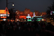 California Adventure Park Framed Prints - Customers . We Have Customers At Radiator Spring - 5D17762 Framed Print by Wingsdomain Art and Photography