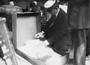 Smuggling Photo Prints - Customs Officer Inspecting Luggage Print by Everett