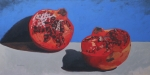 Still Life Art - Cut Pomegranate by John Holdway