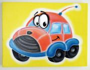 Hanging Pastels Originals - cUTE cAR  by Mara Morea