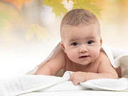 Enjoyment Photos - Cute Four Month Old Baby Boy by Oleksiy Maksymenko