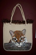 Cats Tapestries - Textiles Originals - Cute Ocelot by Danelle Cummings