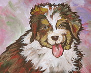 Tongue Painting Originals - Cutie Pie by Sandy Tracey